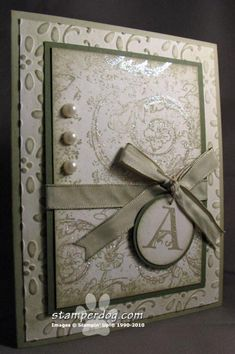 Very Vintage Card using Stampin Up Lovely Letters
