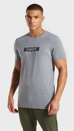 b9bf16f7 The Camo Logo T-Shirt, Grey. Blend in or stand out from the