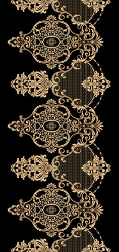 Botanical Flowers, Flowers Nature, Botanical Art, Border Design, My Design, Cultural Patterns, Embroidery Neck Designs, Damask Wallpaper, Album Design