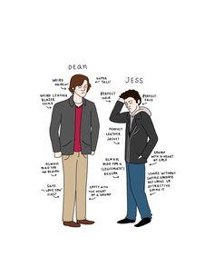 Dean vs. Jess Print  - Hand-Illustrated