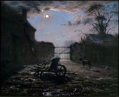 Farmyard by Moonlight 1868 JF Millet