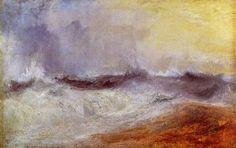 Turner, Joseph Mallord William: Wellen, die sich gegen den Wind brechen (Waves breaking against the Wind)