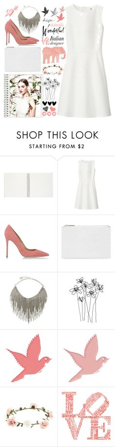 """italian fashion - 1st Look"" by turekbunny ❤ liked on Polyvore featuring Chanel, Uniqlo, Gianvito Rossi, Whistles, BCBGMAXAZRIA, Aerie, American Eagle Outfitters, Accessorize, love and white"