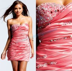 plusandcute.com pink strapless cocktail dress (07) #cuteclothes
