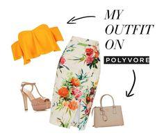 """""""Floral"""" by camixruiz on Polyvore featuring moda, Boohoo, Sergio Rossi, Prada, Flowers y nude"""