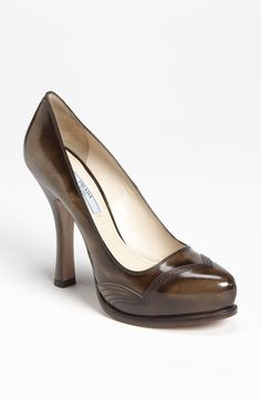 Gorgeous fall shoes.    Prada Platform Pump | Nordstrom