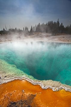 Black Spring, West Thumb Geyser Basin, Yellowstone National Park, Wyoming, USA by Paul Haynes