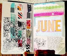 """It's Art JournalConversation time, the third Wednesday of the month! i love that i get to have conversations with some of my favorite """"art journalers."""" i am just as curious as you are about their sty"""