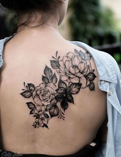 26 Awesome Floral Shoulder Tattoo Design Ideas For Woman - - Floral tattoo design , shoulder tattoo ideas for woman tattoo, flower tattoo, unique tattoo,woman t - Back Of Shoulder Tattoo, Shoulder Tattoos For Women, Flower Tattoo Shoulder, Back Tattoo Women, Floral Shoulder Tattoos, Dream Tattoos, Rose Tattoos, Flower Tattoos, Body Art Tattoos