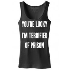 336e03a9f Women s Terrified Tank Top. Awesome ShirtsFunny ...