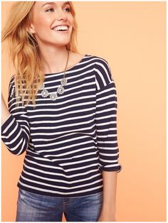 **** Just in for your May 2017 Stitch Fix!  Wanting this navy striped top. LOVE! Just click the picture to get signed up today and start receiving custom looks handpicked especially for you!! Stitch Fix Spring, Stitch Fix Summer, Stitch Fix Fall 2017. Stitch Fix Spring Summer Fall Fashion. #StitchFix #Sponsored