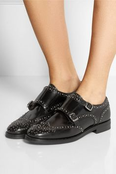 Church's   Lana Met monk-strap studded leather brogues   NET-A-PORTER.COM