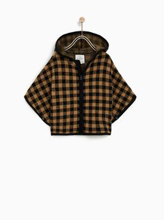 fc84341873 Image 1 of PLAID PONCHO from Zara Kids Checklist, Baby Sewing, Sew Baby,