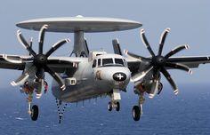Northrop Grumman E2C  Hawkeye early warning aircraft of French Marine Nationale (Navy).
