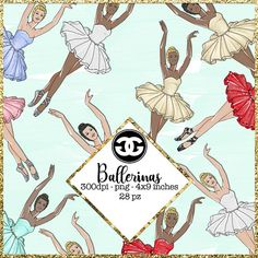 Ballerina Clipart Fashion Clip art - 28 elements png files
