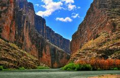This image of the Santa Elena Canyon in Big Bend National Park, Texas characterizes the park's location along the Rio Grande, the international border between Mexico and the United States. The park contains the largest protected area of Chihuahuan Desert in the U.S. and more than 1,200 species of plants, 450 species of birds and about 75 mammal species