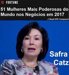 ✔ Brazil SFE Biography®: Safra Catz - 51 Mulheres Mais Poderosas do Mundo nos Negócios em 2017