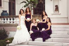 Western Reserve Historical Society Wedding at The Hanna Garden and Marriott at Key Center » Cleveland Wedding Photographers Carman & Pugh Photography // bridesmaids, purple