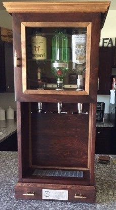 3 Dispenser mini bar cabinet with storage by RusticGroveWoodShop