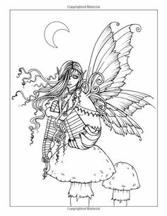Fairy Coloring Adult Pages Books Colouring Elves Fantasy Flower Fairies Digi Stamps Holiday Fun Paper Dolls