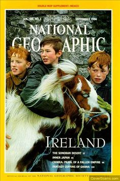 Photographic Print: Cover of the September, 1995 National Geographic Magazine by Sam Abell : National Geographic Cover, National Geographic Photography, Sam Abell, Best Of Ireland, Dublin Ireland, Fallen Empire, Irish Eyes Are Smiling, Irish Blessing, Irish Celtic