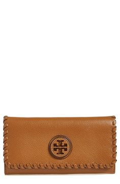 011b4d19d Tory Burch 'Marion' Leather Envelope Wallet available at #Nordstrom  Continental Wallet, Tory