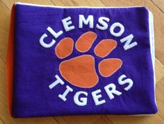 Clemson fabric baby book - perfect for little tigers!