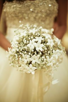 Baby breath's charm wedding bridal bouquet