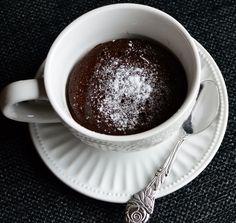 Kveldskos - sunnere sjokoladefondant på 30 sekunder! (Bakekona)