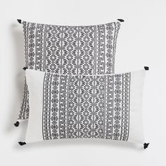 :: Zara Home | Embroidered tassels cushion cover ::