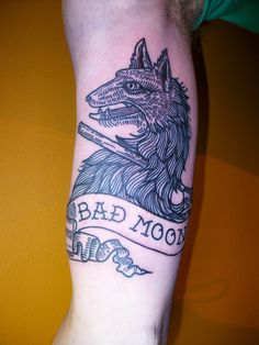 Bad Moon Wolf Tattoo by Lyam