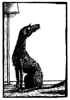 One of my favourite illustrations by Jack Brougham, featuring the Scottish Deerhound from Billy Christmas