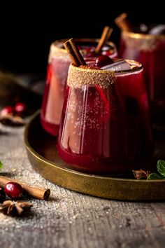 Spiced Cranberry Punch | halfbakedharvest.com Fun Drinks, Yummy Drinks, Beverages, All Spice Berries, Winter Drink, Cranberry Punch, Cranberry Cocktail, Mulling Spices, Thanksgiving Cocktails