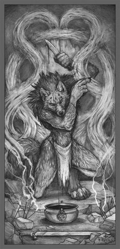 Werewolf Art, Furry Art, Mythical Creatures, Beast, Fantasy, Drawings, Monsters, Artwork, Coloring