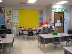 Many classroom set up ideas.