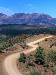 Photographic Print: Dirt Road Winding Through Range, Flinders Ranges National Park, Australia by Christopher Groenhout : Adelaide South Australia, Australia Beach, Western Australia, Australia Travel, Australia Country, Road Trip, Landscape Photography, Beautiful Places, Beautiful Roads