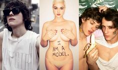 Hari Nef, the trans model now signed to IMG, Stefania Ferrario, founder of Drop the Plus, and gay model couple Jarlos