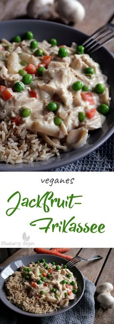 Cremiges Jackfruit-Frikassee vegan