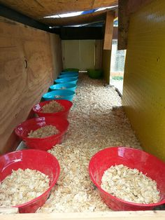Easy and cheap nesting boxes for hens. Cost $1 each