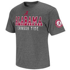 Alabama Crimson Tide Men's Charcoal Sprint Short Sleeve T-Shirt