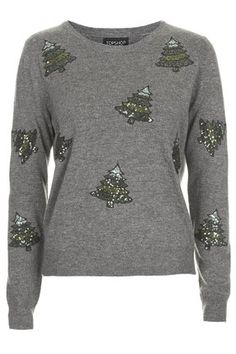 b5f5a13311 Sequin Christmas Tree Sweater Knitted Christmas Jumpers