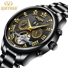 5b37b9199 Men s Watches Automatic Mechanical Watch Tourbillon Clock Stainless Steel  Casual Business Watch Top Brand Sports Watch