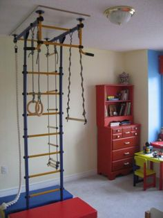 We could hang gym equipment from the ceiling in the basement for the boys!