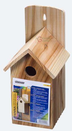 STOCKER CASETTA NINNA PER UCCELLI IN LEGNO MASSICCIO CM. 13 x 13 x h 26 http://www.decariashop.it/attrezzature-uccelli/15646-stocker-casetta-ninna-per-uccelli-in-legno-massiccio-cm-13-x-13-x-h-26.html