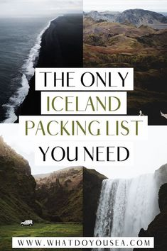 What goes on an Iceland packing list for summer? What is Iceland's summer weather like? What do I wear? Are you about to head out on an EPIC adventure under the midnight sun? This packing list (arguably the best one), will tell you everything you need to know and everything you need to pack to have a successful summer trip to Iceland. Oh? The best part? There's also a free Iceland packing checklist in here also. #icelandpackinglist #iceland #traveliceland Iceland Travel Tips, Iceland Road Trip, Europe Travel Guide, Top Europe Destinations, Travel Through Europe, Packing Tips For Vacation, Packing Checklist, Packing Lists, Travel Packing