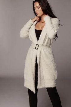 Outerwear – JLUXLABEL Winter Coats Women, Sweater Cardigan, Fur Coat, Grey, Long Sleeve, Swimwear, Model, Sweaters, How To Wear