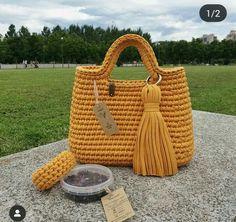 De Croche De Croche barbante De Croche com grafico De Croche de mao De Croche festa - Bolsa De Crochê Diy Crochet Bag, Crotchet Bags, Chunky Crochet, Knitted Bags, Diy Crafts Knitting, Diy Crafts Crochet, Crochet Handbags, Crochet Purses, Tote Bags Handmade