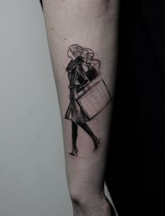 Sketch Tattoos That Look Like Pencil Drawings By Nomi Chi Sketch - Beautiful sketch tattoos by nomi chi