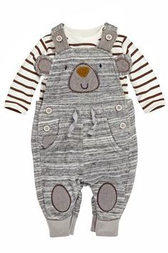 Buy Jersey Bear Dungarees (0-18mths) from the Next UK online shop