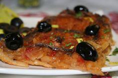 Provensálský cibulový koláč Pissaladiere recept - TopRecepty.cz Risotto, Ethnic Recipes, Food, Essen, Meals, Yemek, Eten
